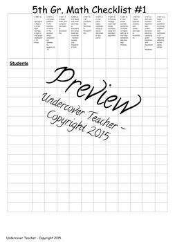 5th Grade Guided Math Lesson Plan Template {Editable