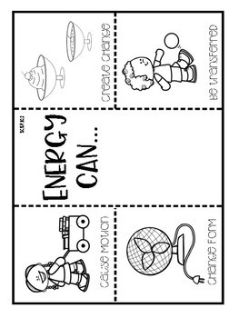 5th Grade Interactive Notebook: Forms of Energy and Energy