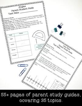 5th Grade Interactive Notes & Parent Study Guides Bundle