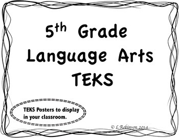 5th Grade Language Arts TEKS We will... Statements (Wave