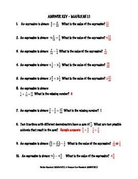 5th Grade FSA Math Assessment
