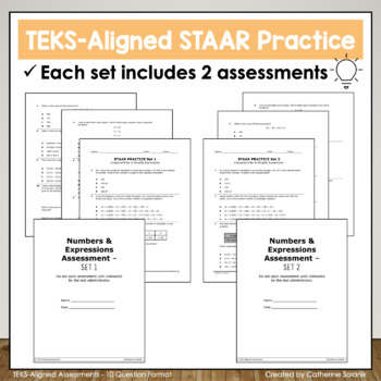 5th Grade Math STAAR Practice Set 1: Compare Order
