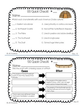5th Grade Social Studies Quick Check Spiral Review Set