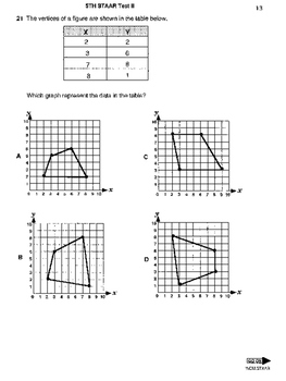 5th Grade STAAR Math Test II (50 problems) by Wilbert