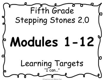 5th Grade Stepping Stones 2.0 I Can Statements for Modules