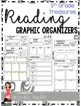 5th Grade Treasures Reading Skills Graphic Organizers by