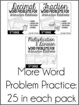 5th Grade Word Problems (Interactive Notebooks Bundle) by