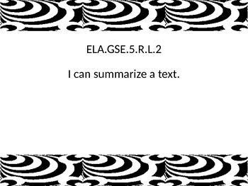 5th grade ELA I Can statements for G.S.E. by Unique Tools