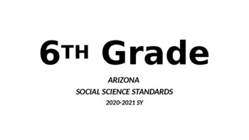 6-8th Grade ARIZONA New Social Science Standards by TuPugs