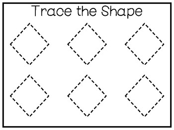 6 All About the Shape Diamond/Rhombus Tracing Worksheets