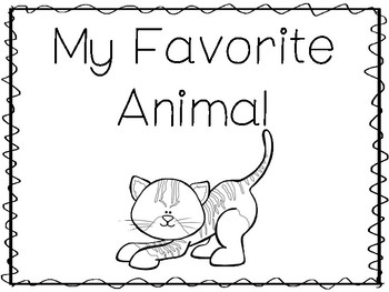6 Cat-My Favorite Animal Preschool Trace and Color