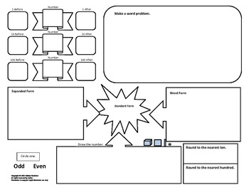 6 Math Graphic Organizers: Word Problems, Vocabulary