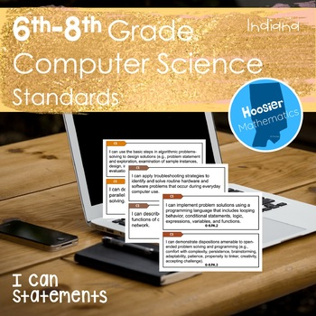 6th-8th Grade Computer Science I Can Statements (Indiana