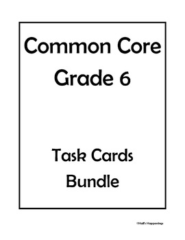 6th Grade Common Core Math Task Cards Bundle by Jeni Hall