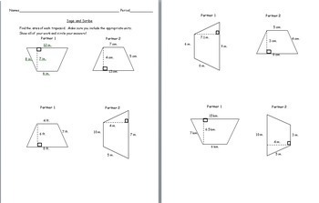 6th Grade Geometry: Area of Trapezoids by Lessons for