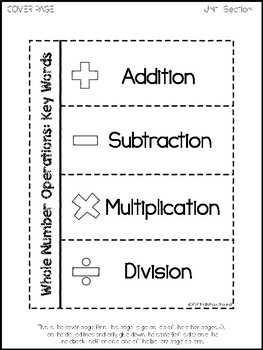 6th Grade Math Interactive Notebook- Whole Number