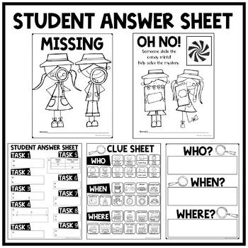 6th Grade Math Test Prep Task Card Activity Solve the