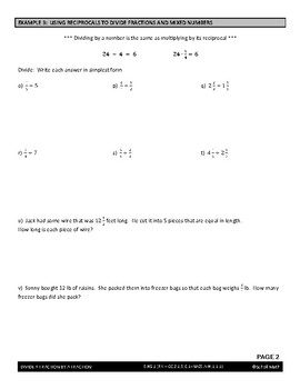 6th Grade Number System (Part I) Unit (Bundle) by Scholl