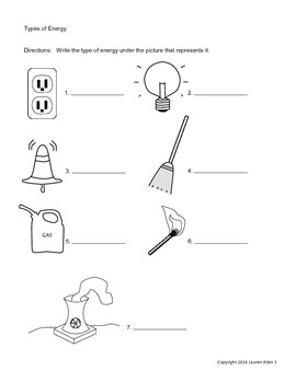 6th grade Energy types,sources,transfer 4 Test bundle
