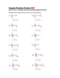 Unit Rate With Complex Fractions Worksheet - Kidz Activities