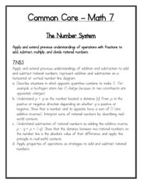 7th Grade Math Common Core: Add & Subtract Rational ...