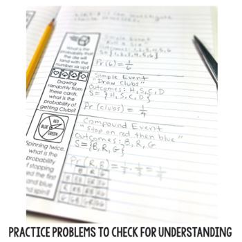 7th Grade Math Interactive Notebooks for Statistics