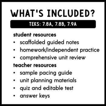7th Grade Volume Unit: TEKS 7.8A, 7.8B, 7.9A by
