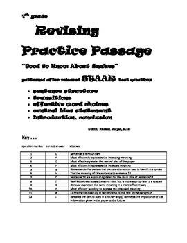 7th grade Revising Practice ,