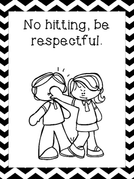 9 Black and White Class Rules Printable Posters/Anchor