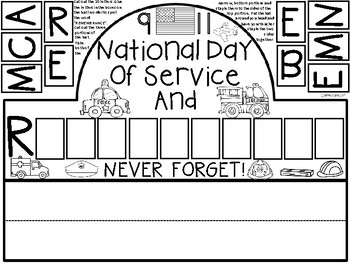 A+ 9-11 Hat: National Day of Service And Remembrance by