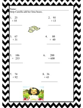 A Bad Case of the Stripes Writing Prompts and Math by