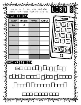 Abeka 2nd Grade Spelling Packet LIST 3 (A Beka) by Ana