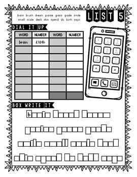 Abeka 2nd Grade Spelling Packet LIST 5 (A Beka) by Ana