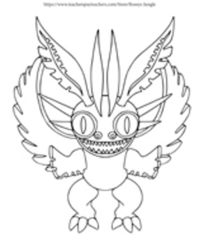 A Bit from Mexico: DIY Alebrijes coloring pages by Rossy's