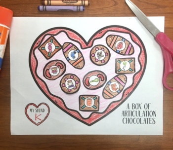 A Box of Articulation Chocolates! Speech Therapy Craft