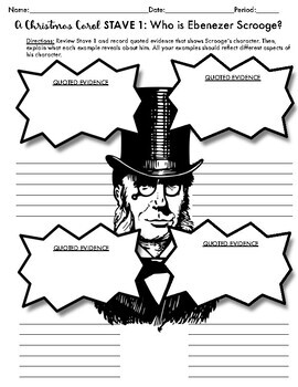 A Christmas Carol Activity for Stave 1: Scrooge