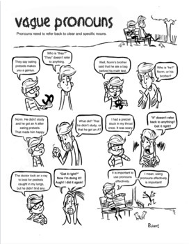 Vague Pronouns: A Comic Lesson with Activities by David