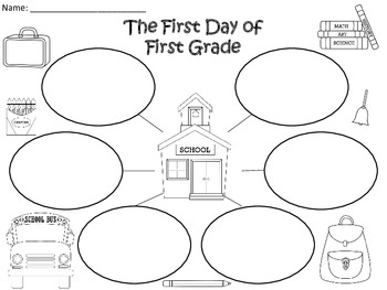 A+ First Day Of First Grade Three Graphic Organizers