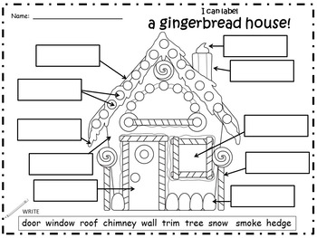 A+ Gingerbread House: Label The Gingerbread House by