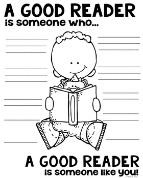 A Good Reader Poster for Reading Comprehension [someone