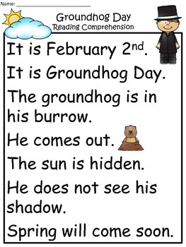 A+ Groundhog Dayv Comprehension: Differentiated
