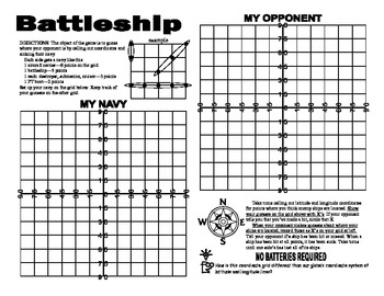 A Latitude and Longitude Battleship Game by Linda