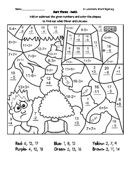 A Lemonade Stand Math Mystery (2nd & 3rd Grade) by Owl and