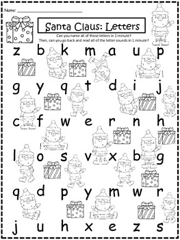 A+ Santa Claus: CVC Words And Letter Reading Practice by