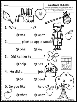 A+ Sight Word Sentence Mega Bundle: Fill In the Blank