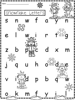 A+ Snowflake: CVC Words And Letter Reading Practice by