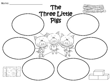 A+ The Three Little Pigs: Graphic Organizers by Regina