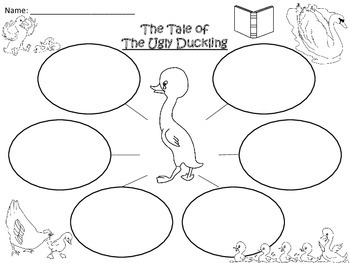 A+ The Ugly Duckling Three Graphic Organizers by