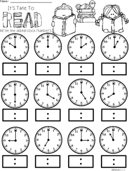 A+ Time To Read Analog Clock & Digital Clock Work (Hour