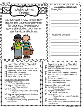 Homework Writing Prompts- A Year of Narrative and